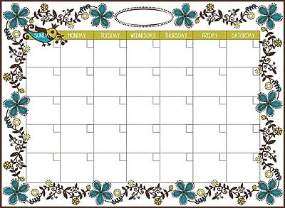 WallPops Anya Dry-Erase Calendar and Message Board