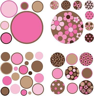 WallPops Gone Dotty Brown/Pink Pack
