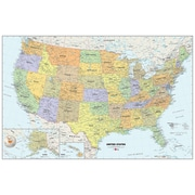 "WallPops USA, 24"" x 36"", Film Dry Erase Map ( WPE99073-S)"