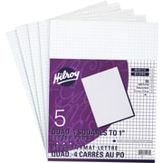 Hilroy Figuring Pads, Quad-Ruled, White