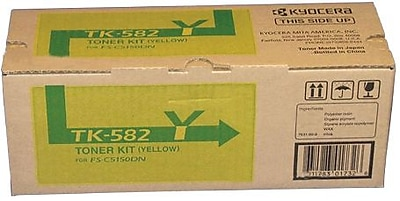Kyocera Mita TK-582Y Yellow Toner Cartridge (1T02KTAUS0), High Yield