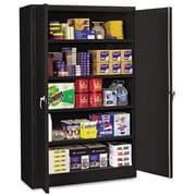 "Tennsco Assembled Jumbo 18""D Steel Storage Cabinet, Black"
