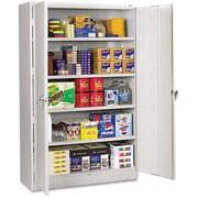 "Tennsco Assembled Jumbo 24""D Steel Storage Cabinet, Light Gray"