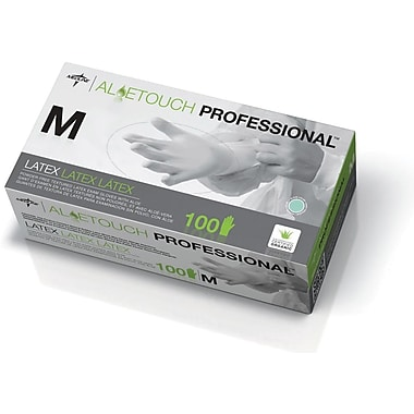 Aloetouch® Latex Exam Gloves, Green, Medium, 9