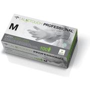 "Aloetouch® Latex Exam Gloves, Green, Medium, 9"" L, 100/Box"
