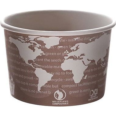 Eco-Products® Compostable Soup Cups, 8Oz., Design, 1,000/Ct