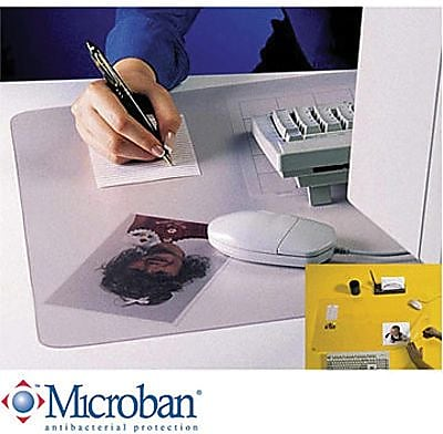 Artistic KrystalView Desk Pad with Microban Clear 20 x 36