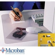 "Artistic™ KrystalView™ Desk Pad with Microban®, Clear, 20"" x 36"""