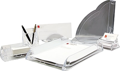 Swingline™ GBC® Clear Acrylic Desk Accessories