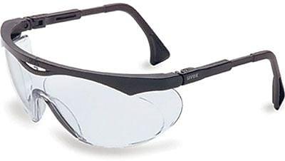 Sperian Skyper® Safety Spectacle, Polycarbonate, Wrap-Around, Anti-Fog, Clear, Black