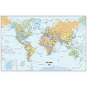 "WallPops World Dry Erase Map, White Boarder, 24"" x 36"""