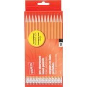 Staples® #2 Pre-sharpened Wood Pencils, Yellow, 48/pk (23744)