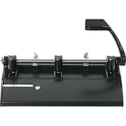 Skilcraft Heavy-Duty 3-Hole Paper Punch, 28 Sheet Capacity/20 lb. Paper, Black