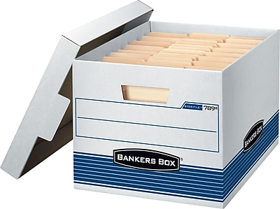 Bankers Box Stor/File Medium-Duty Quick Set-Up Storage Boxes with Lift-Off Lid, Letter/Legal, 12/Ct (00789)
