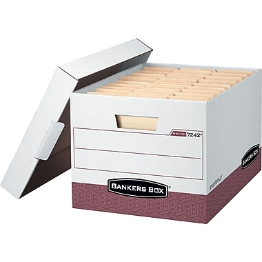 Bankers Box® R-Kive® Heavy-Duty Storage Boxes, Letter/Legal Size