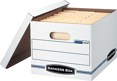 Bankers Box Stor/File Basic-Duty Storage Boxes with Lift-Off Lid, Letter/Legal, 12/Ct (00703)