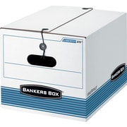 Bankers Box® Stor/File Medium-Duty String & Button Closure Storage Boxes, Letter/Legal Size