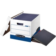 Bankers Box BinderBox Heavy-Duty FastFold Storage Boxes with Lift-Off Lid, 12/Ct (0073301)