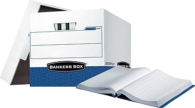 Bankers Box Data-Pak Heavy-Duty FastFold Storage Boxes for 11