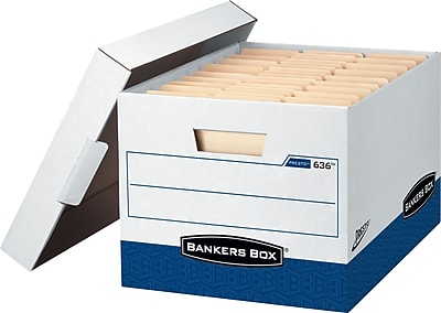 Bankers Box Presto Heavy-Duty Instant Assembly Storage Boxes with Lift-Off Lid, Letter/Legal, 12/Ct (0063601)