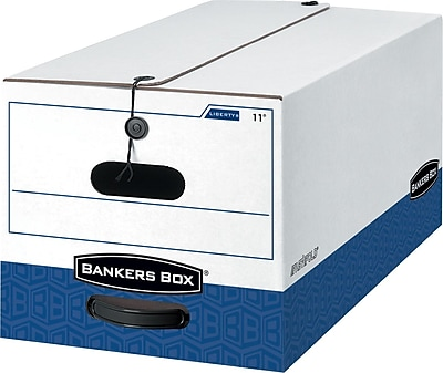Bankers Box Liberty Heavy-Duty FastFold Storage Boxes with String & Button, Letter, 12/Ct (0001105)