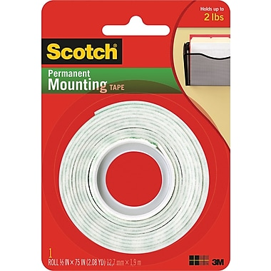 Scotch® Permanent Heavy Duty Mounting Tape, 1/2