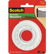 "Scotch® Permanent Heavy Duty Mounting Tape, 1/2"" x 2.1 yds ,1"" Core"