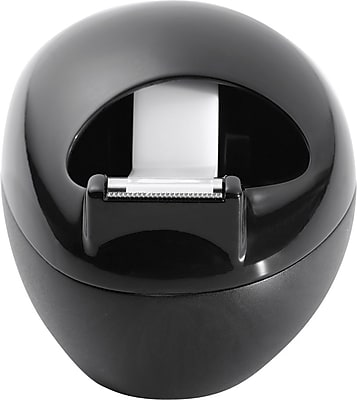 Scotch® Karim Design Pebble Desktop Tape Dispenser, Black