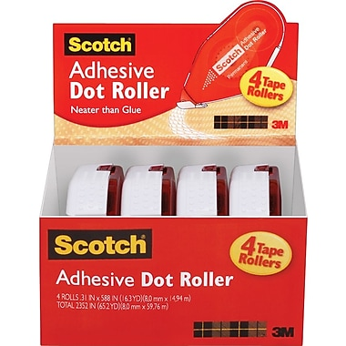 Scotch® Adhesive Dot Roller Value Pack, .31
