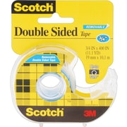 "Scotch® Double Sided Removable Tape with Dispenser, 3/4"" x 400"", 1"" Core"