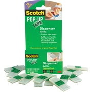 "Scotch® Pop-up Tape Refill Pads, 3/4"" x 2"", 75 Strips Per Pad, 12/Pack"