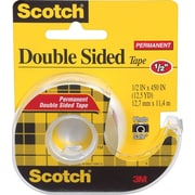 "Scotch® Double Sided Permanent Tape with Dispenser, 1/2"" x 450"",  1"" Core"