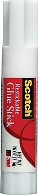 Scotch® Restickable Glue Stick, .26 oz