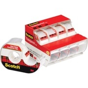 "Scotch® Transparent Tape, 3/4"" x 850"", with Dispenser, 1"" Core, 4/Pack"
