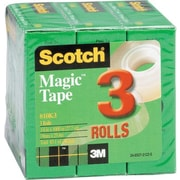 "Scotch® Magic™ Tape, 3/4"" x 1000"", 1"" Core, 3/pack (810K3)"