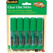 Scotch® Wrinkle Free Glue Stick, .27 oz, 5/Pack