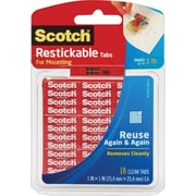 "Scotch® Restickable Tabs 1"" x 1 "", 18/Pack"