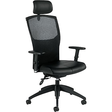 Global® Alero Executive Leather High-Back Multi-Tilter, Black