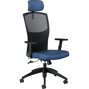 Global® Alero High-Back Mesh Tilter with Headrest, Admiral