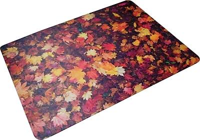 Floortex Autumn Leaves 48''x36'' Polycarbonate Chair Mat for Hard Floor, Rectangular (229220ECAL)
