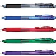 Pentel® - Stylos Roller à encre gel EnerGel-X, pointe fine, 0,7 mm, paq./4