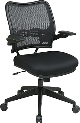 Office Star SPACE Fabric Conference Office Chair, Adjustable Arms, Black (13-37N1P3)