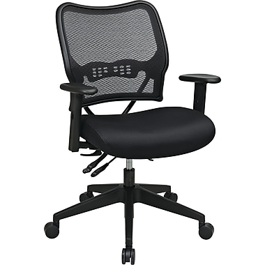 Office Star Space Seating Mid-Back Mesh Manager's Chair, Adjustable Arms, Black (13-37N9WA)