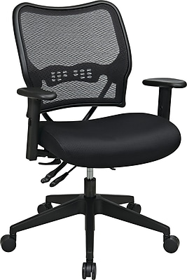 OfficeStar Space Deluxe AirGrid Back Manager Chair w/ Cantilever Arm, DualFunctionControl&SeatSlider