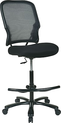 Office Star Fabric Computer and Desk Office Chair, Armless, Black (15-37A720D)