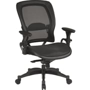 Office Star SPACE Mesh Managers Office Chair, Adjustable Arms, Black (2787)
