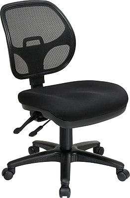 Office Star 290230 ProLine II Fabric Armless Task Chair Coal