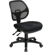 Office Star 2902-30 Pro-Line II Fabric Armless Task Chair, Coal