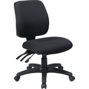 Office Star Fabric Computer and Desk Office Chair, Coal, Armless Arm (33320-30)