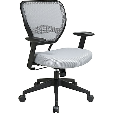 Office Star SPACE Mesh Managers Office Chair, Adjustable Arms, Shadow (55-M22N17)